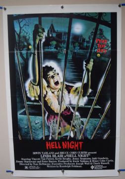 Hell Night (1981) Horror Poster Linda Blair  - US One Sheet